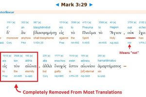 Mark 3-29 Interlinear Words Removed