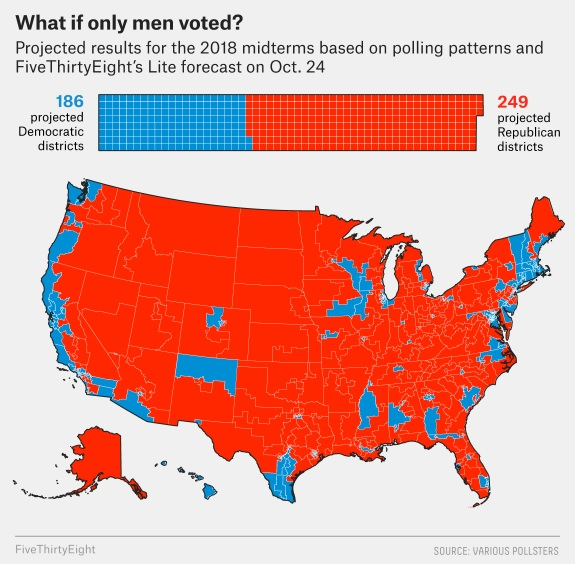 2018 midterms - what if only men voted